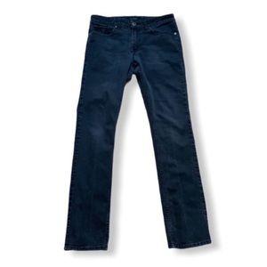 Guess dark wash skinny mid rise jeans 31 x 34